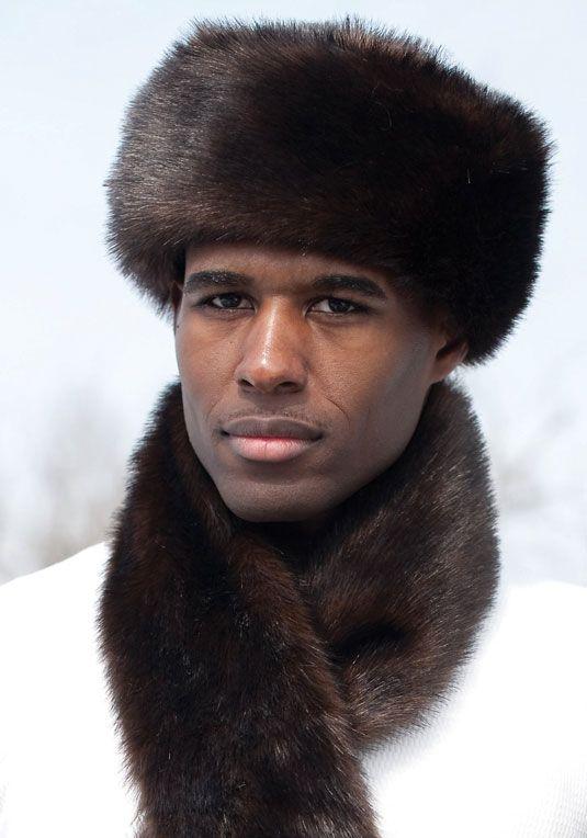 Men's Sable Faux Fur Russian-Style Hat