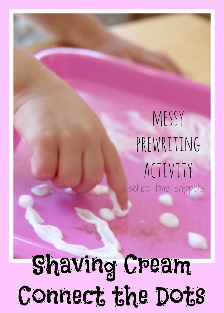 Shaving Cream Connect the Dots: Messy Prewriting Activity