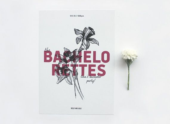 Bachelorettes. Bridal shower gift  Wedding print by MessProject, €19.00  #weddinginvitation #weddingprint #wedding #invitation #diy #piy #monogram #savethedate