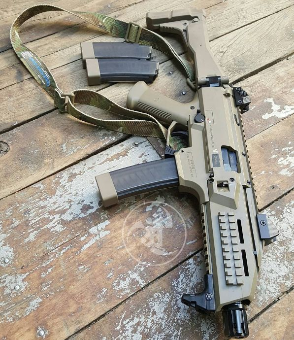 CZ Scorpion FDE Speed up and simplify the pistol loading process with the RAE Industries Magazine Loader. http://www.amazon.com/shops/raeind