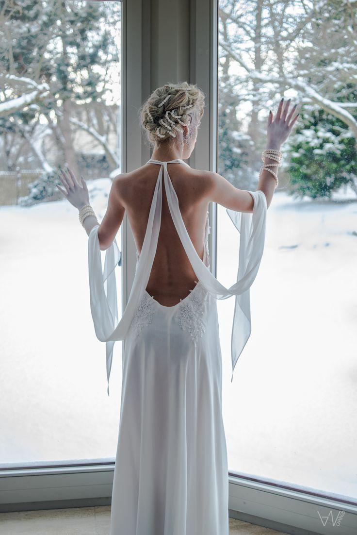 #art #woman #winter