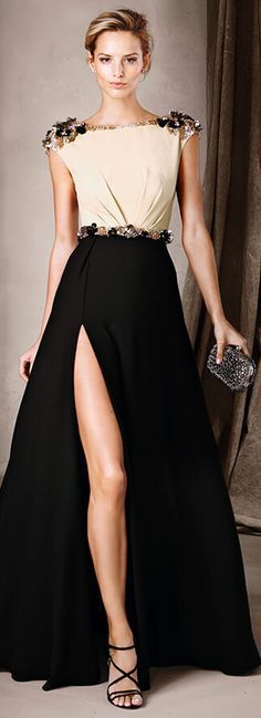 Elegant two toned dress - Pin curated by http://www.thedailyfashioninspiration.com/