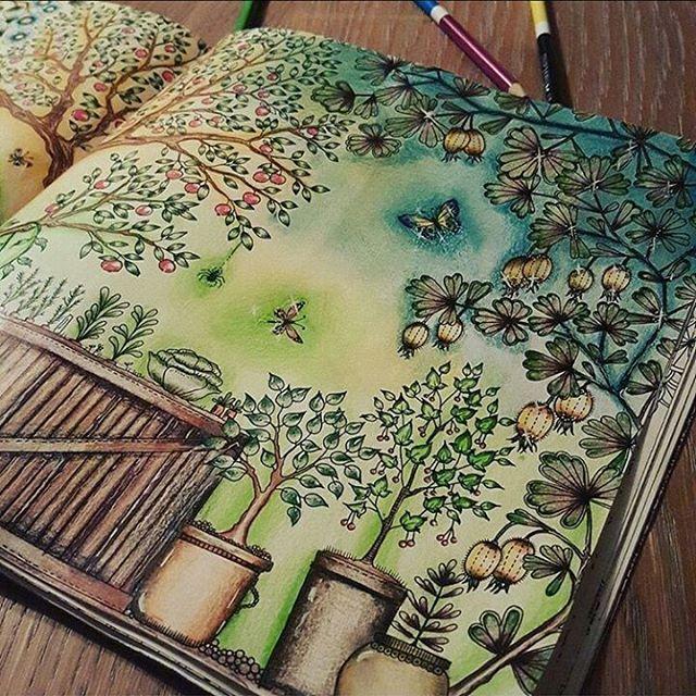 jardim secreto, jardin secreto, johanna basford, inspiration, inspire