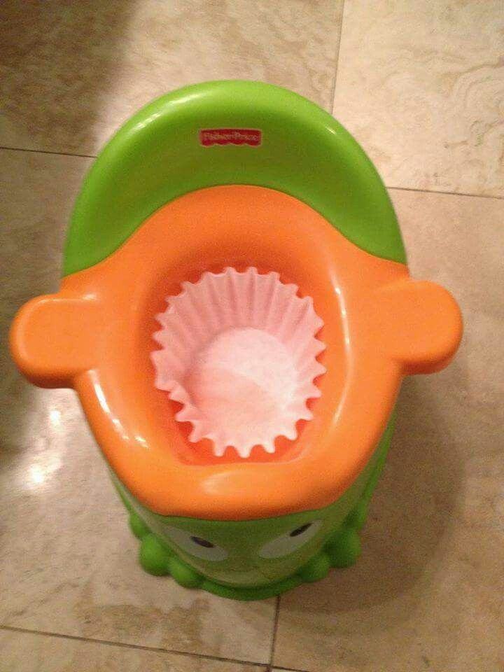 Coffee filter for easy poo removal!!