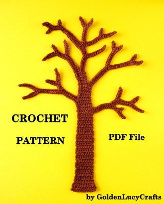 Tree Applique Crochet Pattern | YouCanMakeThis.com