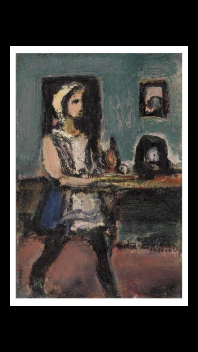 Georges Rouault - La petite servante, 1937 - Huile sur toile - 30,2 x 20,2 cm - Merion, Pennsylvanie, The Barnes Foundation