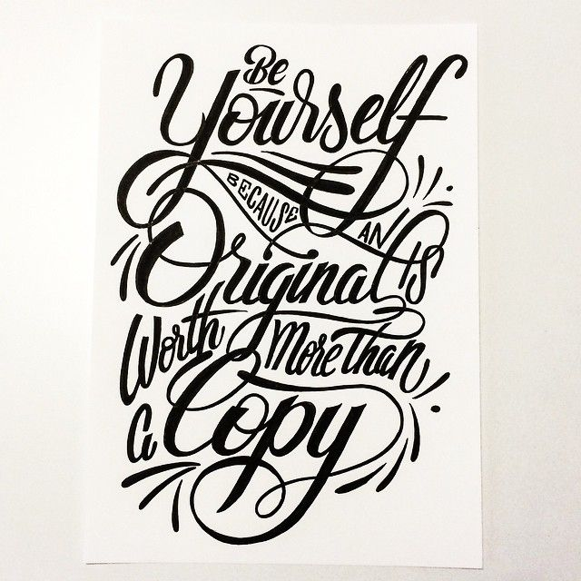 Beautiful hand drawn typography, and fantastic words to live by.
