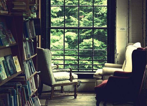 : Picture, Book Nooks, Library Armchair, Armchair Window, Book Thoughts