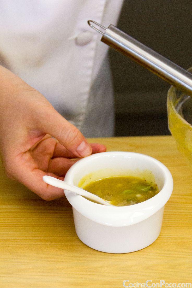 Salsa Vinagreta para ensaladas y pescados. Receta paso a paso