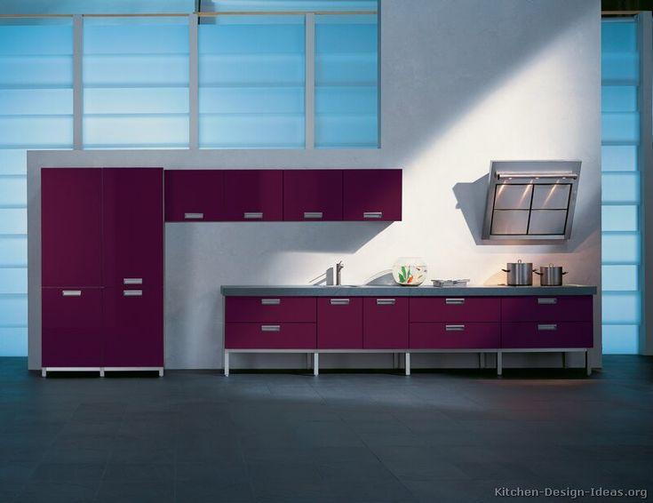 1000 ideas about purple kitchen on pinterest purple for Burgundy kitchen cabinets