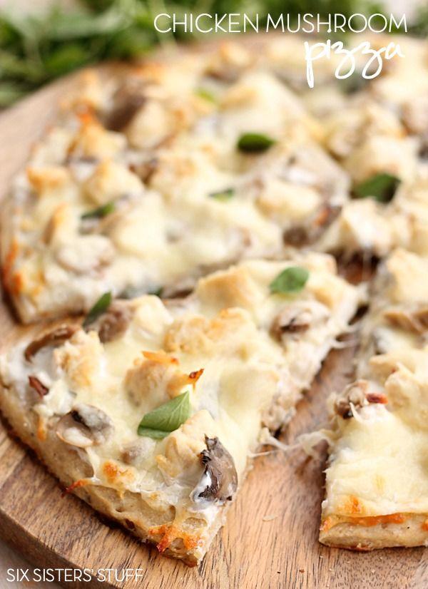 Chicken Mushroom Pizza from Six Sisters' Stuff