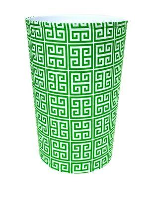57% OFF Malabar Bay Greek Key Canvas Wastebasket, Green
