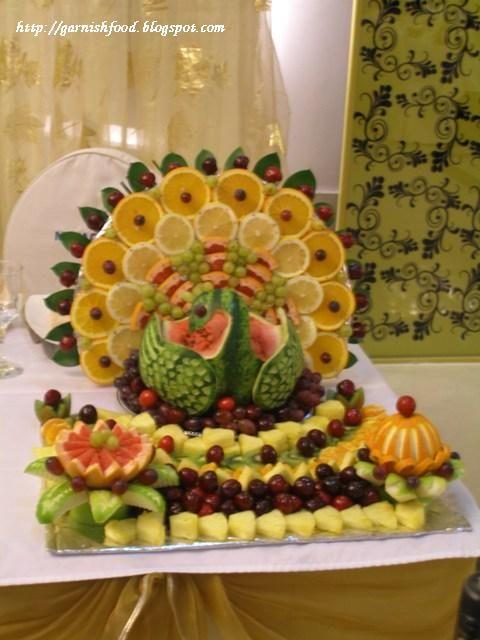 """Fruit Carving Arrangements and Food Garnishes: """" Fruit Displays"""""""