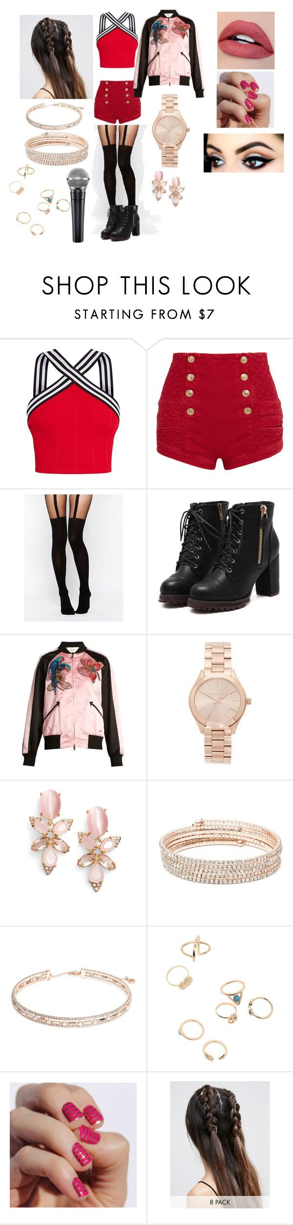 """Whistle - JENNIE OUTFIT"" by joeannamarii on Polyvore featuring Pierre Balmain, ASOS, Valentino, Michael Kors, Kate Spade, Anne Klein and SoGloss"
