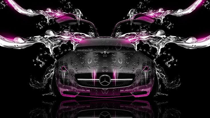mercedes a45 amg blacl and pink - Google Search