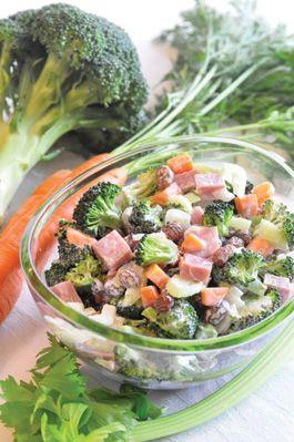 Broccoli and Everything Salad (DASH Diet Plan)
