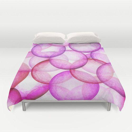 Bedding,unique bedding,modern bedding,pink bedding,bright bedding,artistic bedding,art on bedding,bedding with art,soft bedding,bedding