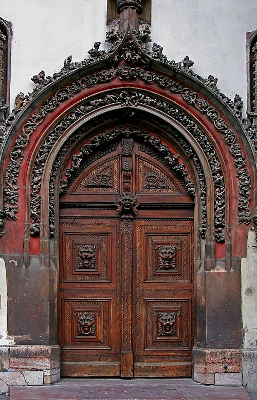 Prague Flowered Gothic Style Doors Gorgeous Doors Doors Unique Doors Old Doors