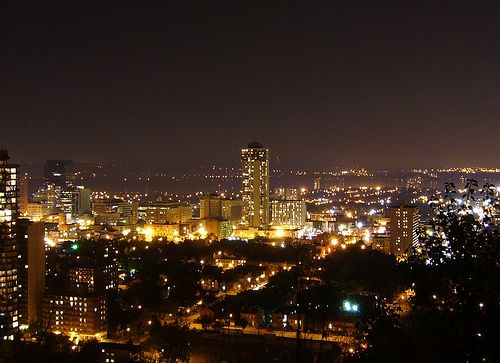 City of Hamilton at night.