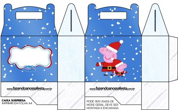 Peppa Pig in Christmas: Free Printable Boxes.