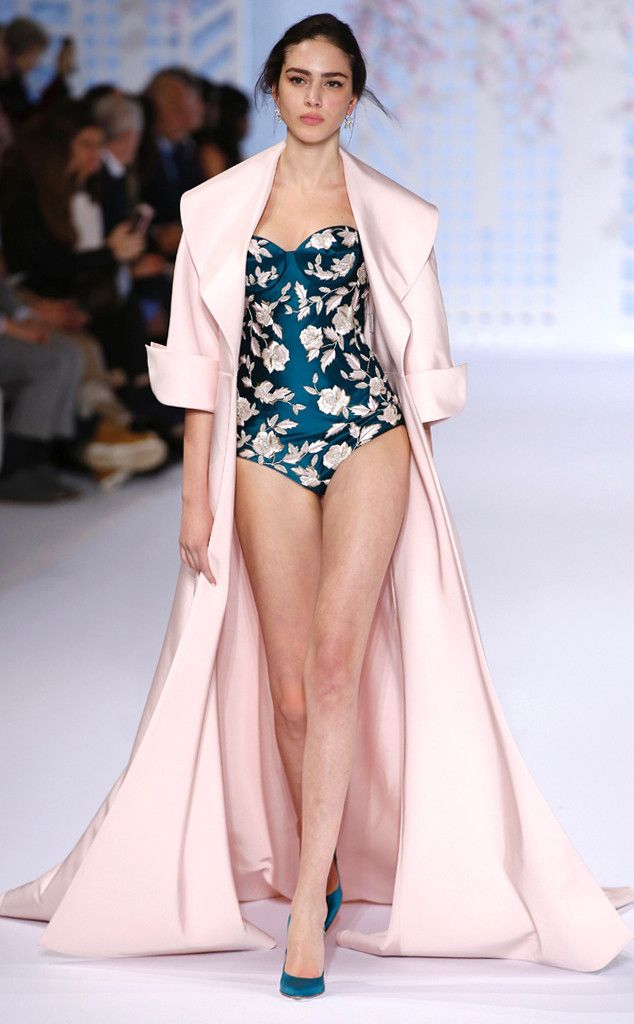 Blush, royal Blue & embroidery. Ralph & Russo from Paris Fashion Week Haute Couture | E! Online