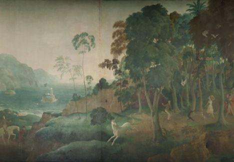 Detail of Rex Whistler mural
