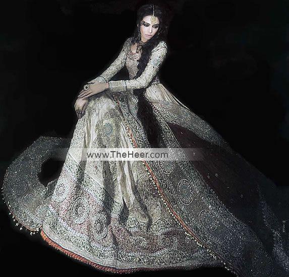 BW6386 Off White Off White Sharara Anarkali Bridal Wear, Anarkali Bridal Dresses Pakistan, Off White Designer Bridal Anarkali Bridal Wear