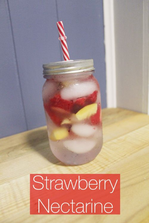 strawberry nectarine fruit infused water