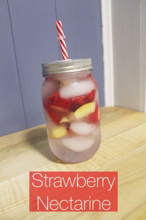 strawberry nectarine fruit infused water