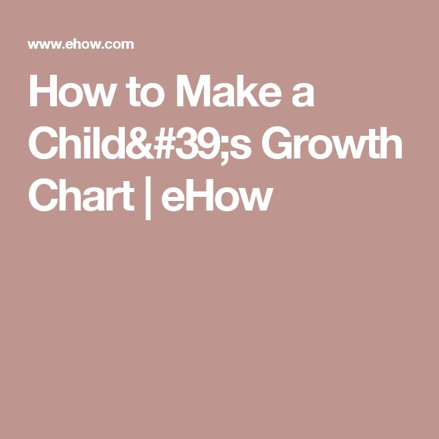How to Make a Child's Growth Chart | eHow