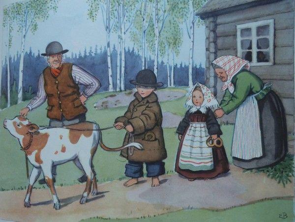 Illustration d'Elsa Beskow