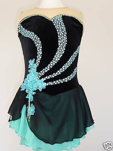 BEAUTIFUL FIGURE ICE SKATING DRESS - CUSTOM MADE TO FIT in Skating Dresses-Girls | eBay