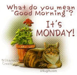 www.have a nice monday.com   What do you mean Good Morning ? It's Monday!