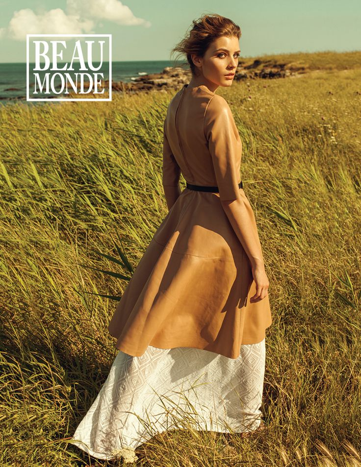 Our nude leather dress was featured in the July issue of Beau Monde Magazine #Fashion #Leather #Style #Manokhi