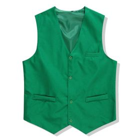 Opentip.com: TopTie Waiter Bartender Uniform Unisex Button Vest For Supermarket Clerk