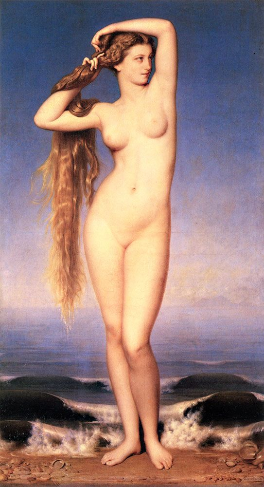 The Birth of Venus, 1862, Palace des Beaux-Arts de Lille. Buy this painting as premium quality canvas art print from Modarty Art Gallery. #art, #canvas, #design, #painting, #print, #poster, #decoration
