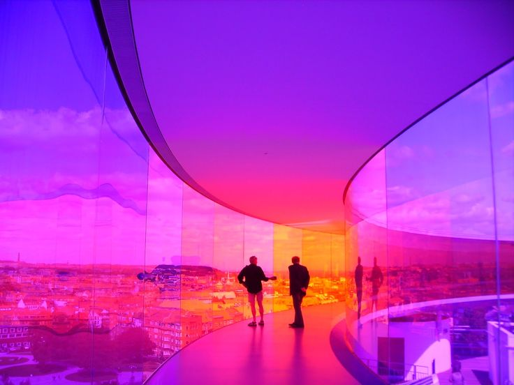 Your Rainbow Panorama by Olafur Eliasson, most amazing architectural installation I have seen, ever