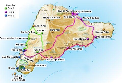 Mapa Turistico Isla de Pascua
