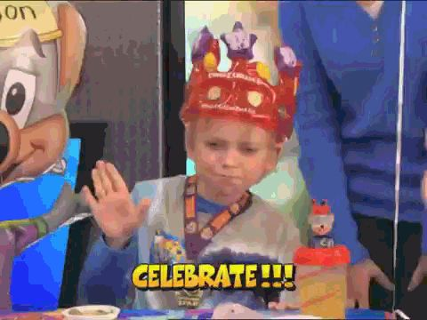 New trending GIF tagged happy party birthday excited...