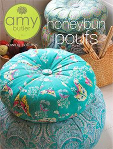 Amy Butler Honey Bun Pouf Pattern - PTAB32 via Etsy