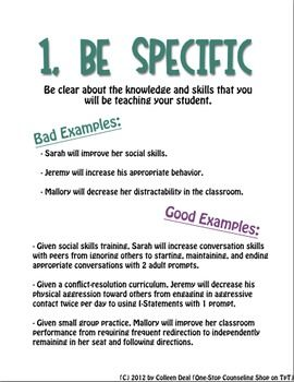 sample iep goals for writing