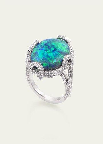 #Opal #diamond ring http://www.finditforweddings.com