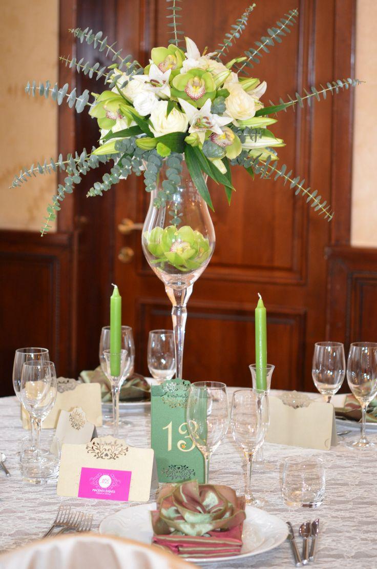 Wedding trend 2014: Green #Nunta2014 #aranjamentenunta #atentiladetalii #magentaevents