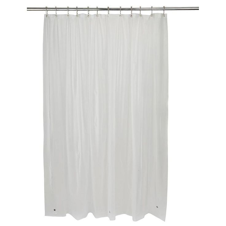 Bath Bliss Hotel Weight Shower Curtain Liner, Multicolor