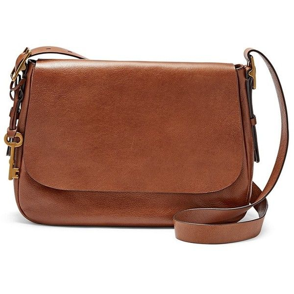 Fossil Harper Large Saddle Crossbody Zb6760200 Color: Brown (305 NZD) ❤ liked on Polyvore featuring bags, handbags, shoulder bags, fossil purses, brown crossbody purse, crossbody purse, cross body and crossbody shoulder bags