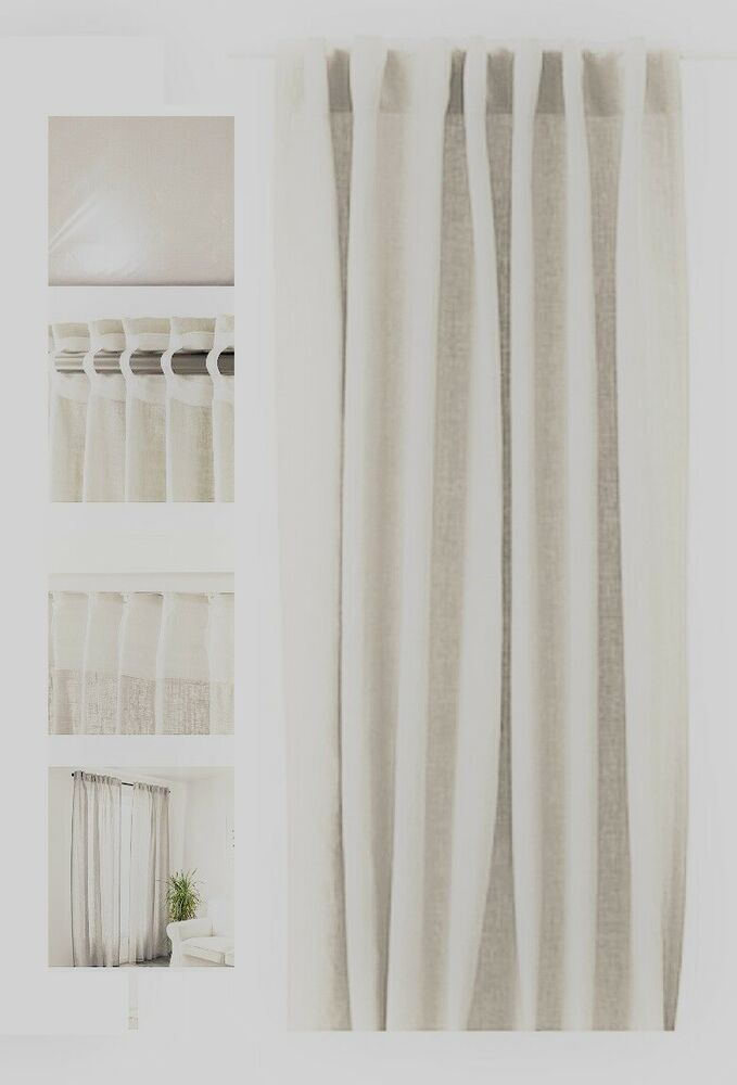 Ebay Sponsored Ikea Aina Off White Vanilla Linen Almond Curtain
