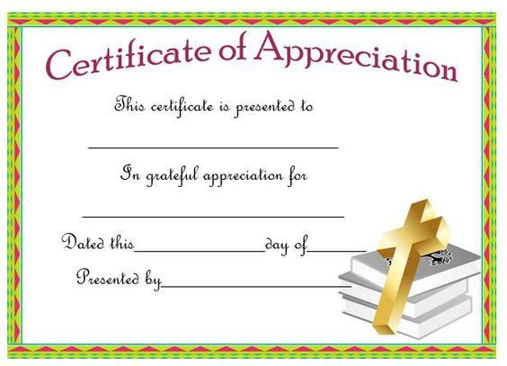 Best Pastor Appreciation Certificate Templates Images On