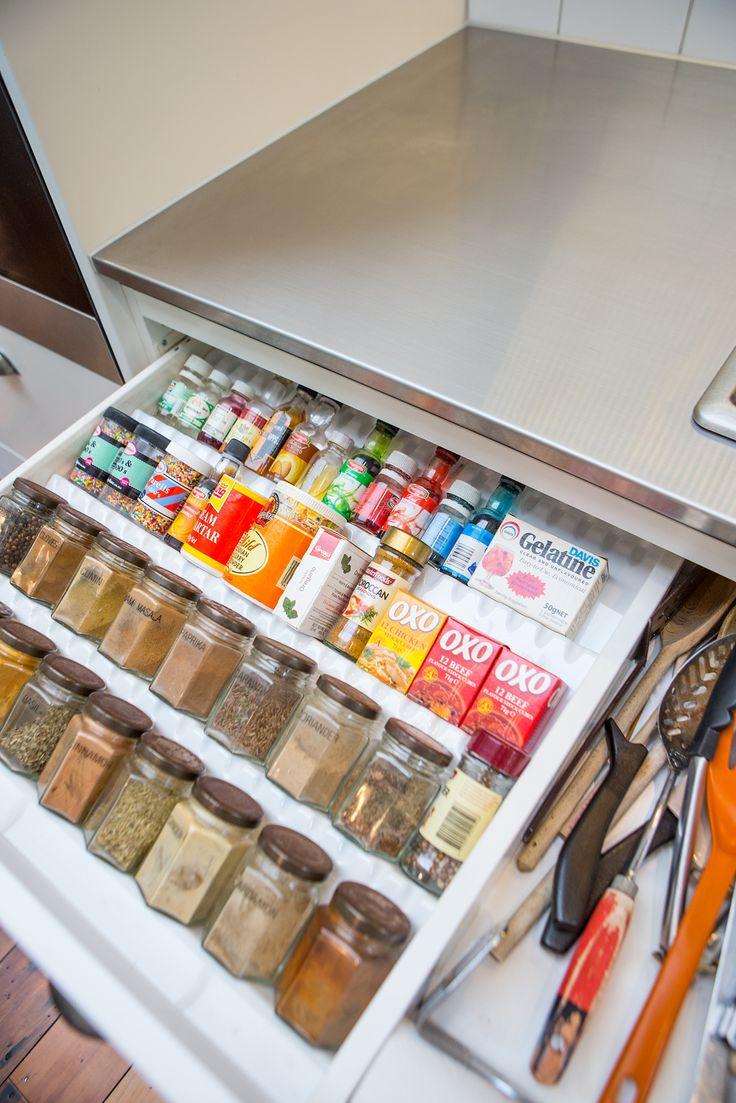 Kitchen drawer inserts for spices - Kitchen Sally Steer Design Ltd Wellington New Zealand Spice Insert In Blum Drawer