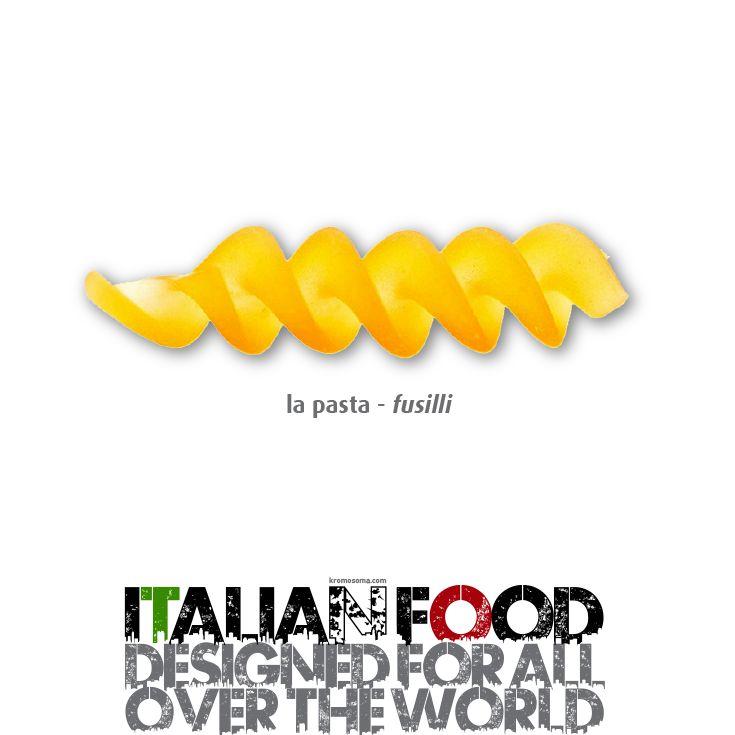 ITALIAN FOOD - designed for all over the world - La Pasta - Fusilli #masterfoodesign #iedroma #foodesign #design #food #drink #kromosoma #francescosubioli #architecture #art #cibo #beverage #dop #doc #docg #alimentare