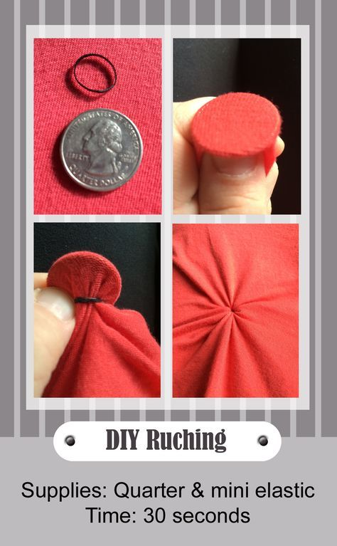 DIY ruching. 30 seconds. Great for long and baggy shirts like the #LuLaRoe #Irma